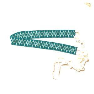 Loft beaded belt with ribbon tie